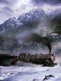 Attaque au train Photographie stock