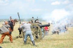 Attaque confédérée de canon Photographie stock libre de droits