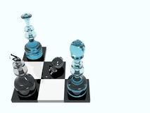 Attaque d'échecs Photo libre de droits