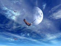 Attaque d'aigle Images stock