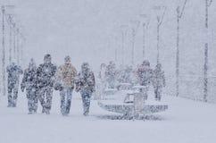 Attaque d'hiver Photographie stock