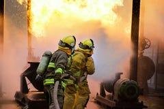 Attaque d'incendie Photos stock