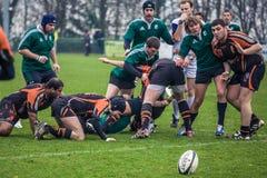 Attaque dans le rugby Image libre de droits