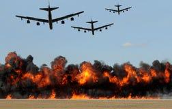Attaque de bombardiers lourds Photographie stock