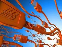 Attaque de câble d'incendie Image libre de droits