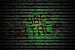Attaque de Cyber Images stock