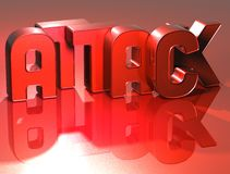 attaque de 3D Word sur le fond rouge Photo libre de droits