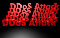 Attaque de DDOS écrite dans 3D Photographie stock libre de droits