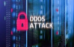 Attaque de DDOS, protection de cyber le virus détectent E illustration de vecteur