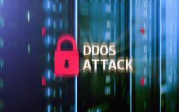Attaque de DDOS, protection de cyber le virus détectent E illustration libre de droits