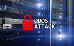 Attaque de DDOS, protection de cyber le virus détectent E Photo stock