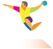 Attaque de handball Photos libres de droits