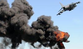 Attaque de Jetfighter image stock