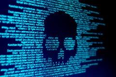 Attaque de Malware d'ordinateur photographie stock libre de droits