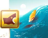 Attaque de requin illustration stock