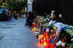 Attaque de terrorisme de Paris Image stock