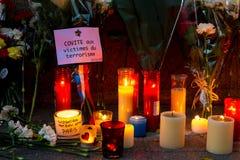 Attaque de terrorisme de Paris Images libres de droits
