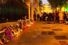 Attaque de terrorisme de Paris Photographie stock libre de droits