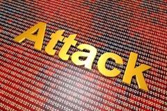 Attaque et cyberguerre de Digital Image stock
