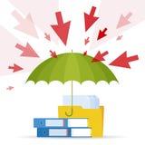 Attaque et protection C Photo stock
