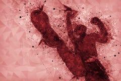 Attaque violente, criminel masculin méconnaissable donnant un coup de pied et poinçonnant Images libres de droits