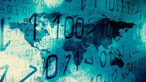 Attaques globales de cyber, menaces de technologie numérique illustration stock