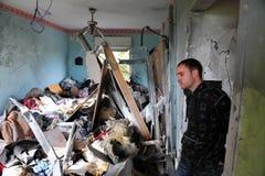 Attaques palestiniennes de fusée sur l'Israël Image stock