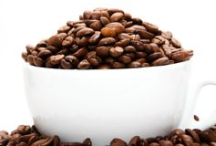 Attaquez rempli de grains de café Image libre de droits