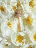 Attar árabe em uma mini garrafa Perfume concentrado do óleo do oud fotografia de stock