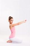 attarctive sprawności fizycznej dziewczyny joga potomstwa zdjęcia stock