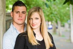 Attarctive young couple outdoors. Stock Photo