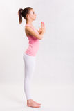 Attarctive young yoga fitness girl. Stock Images