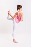 Attarctive young yoga fitness girl. Royalty Free Stock Photography