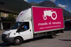 Atteggiamenti del logo della Norvegia Immagini Stock