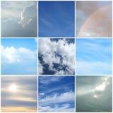 Atteggiamenti differenti del cielo Immagine Stock