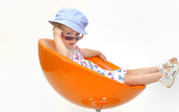 Atteggiamento del bambino Fotografia Stock Libera da Diritti