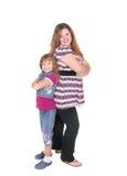 Atteggiamento della figlia e della mamma immagini stock libere da diritti