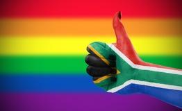 Atteggiamento positivo della Repubblica Sudafricana per la comunità di LGBT Fotografie Stock
