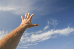 Atteignez le ciel Photo libre de droits