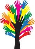 Atteinte de la diversité de liberté de mains illustration stock