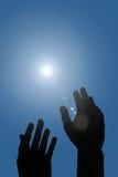 Atteinte de mains Photos libres de droits