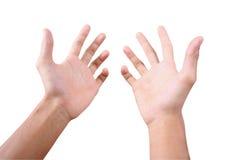 Atteinte des mains 1 Photo libre de droits