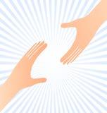 Atteinte du concept d'aide de mains Photographie stock libre de droits