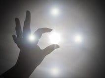Atteinte pour la lumière et l'amour de Dieu Photo libre de droits