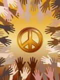 Atteinte pour la paix Image libre de droits