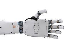 Atteinte robotique de main illustration stock