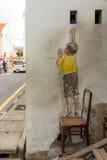 Atteinte vers le haut de l'art de rue chez George Town Photos libres de droits