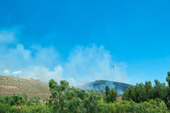 Attempt to fire fires in Sardinia Italy Stock Photo