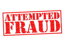ATTEMPTED FRAUD. Red Rubber Stamp over a white background Stock Photo