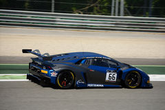 Attempto Racing Lamborghini Huracan GT3 at Monza. The Autodromo Nazionale Monza hosted the first endurance race of 2017 Blancpain GT Series Royalty Free Stock Photography